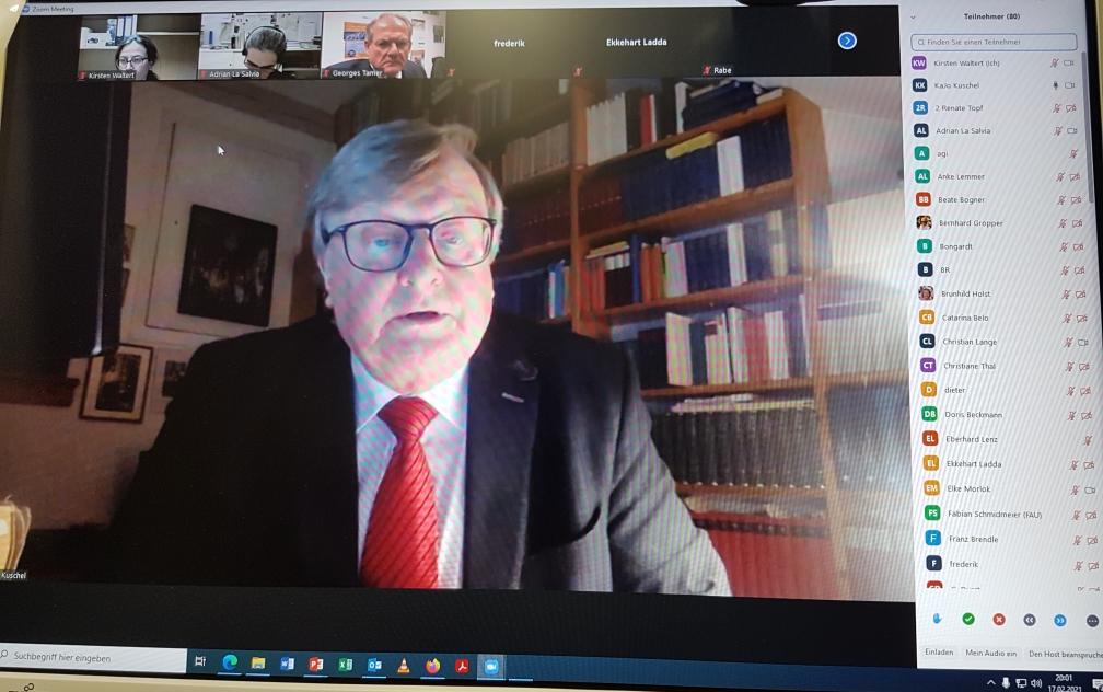 Prof. Kuschel bei seinem Koran-Vortrag